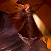 Antelope canyon with a shaft of light!