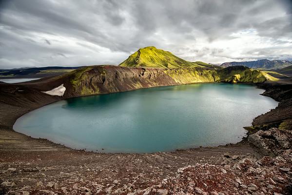 Lake Blahylur in dramatic light